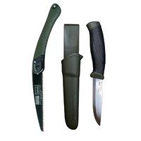 Set cutit Morakniv Companion MG (S) si fierastrau Bahco pentru bushcraft/ camping/ vanatoare