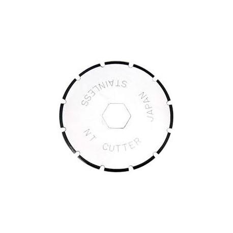 Set 2 lame cutter disc cu taiere perforata - Ø28mm, NT Cutter.