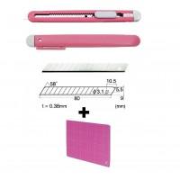 Set Cutter / cutit utilitar mic NT Cutter - 9mm + 10 lame de schimb + paca de taiere A4