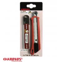 7556/2AS Cutter KRONUS 18 mm + Set 10 lame schimb pentru cutter SK4